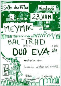 Bal trad Meymac 23 juin