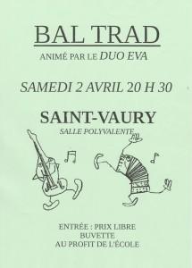 St Vaury 2 avril